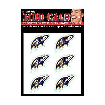 Wincraft 6er Gesicht Aufkleber 3cm - NFL Baltimore Ravens