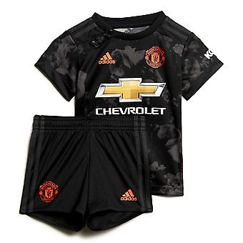 adidas Manchester United 2019/20 Kids Infant Baby Third Football Kit Black