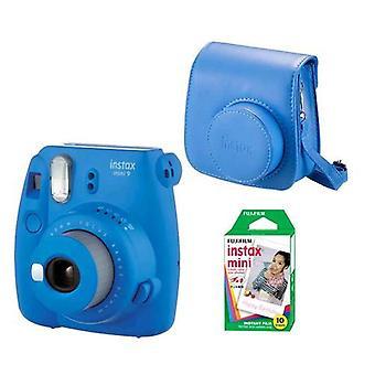 Fujifilm instax mini 9 kits 10 prints + blue cobalt bag