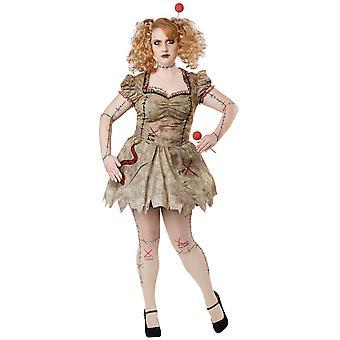 Voodoo Dolly Doll Black Magic Ritual Storybook Halloween Womens Costume Plus