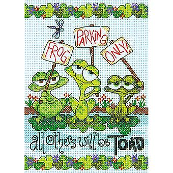Frog Parking Mini Counted Cross Stitch Kit-5