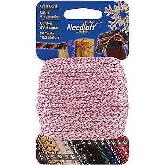 Needloft Novelty Craft Cord 20 Yards Iridescent Pink 550 55050
