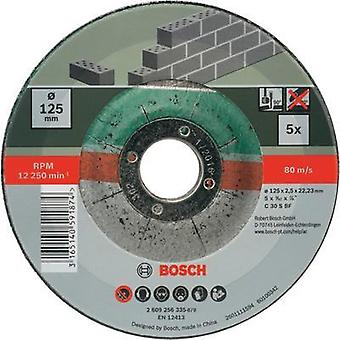 Bosch Accessories 2609256335 5-piece cutting disc set with depressed centre for stone