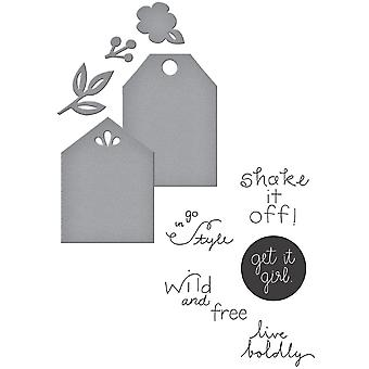 Spellbinders Stamp & Die Set-Simply Me SDS008