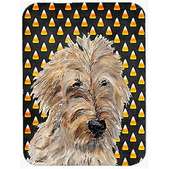 Golden Doodle 2 Candy Corn Halloween Glass Cutting Board Large Size SC9667LCB