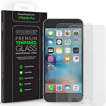 Caseflex iPhone 6S Plus Screen Protector Tempered Glass 2 Pack [3D Touch Compatible 0.2mm Thickness 9H Hardness Rating]