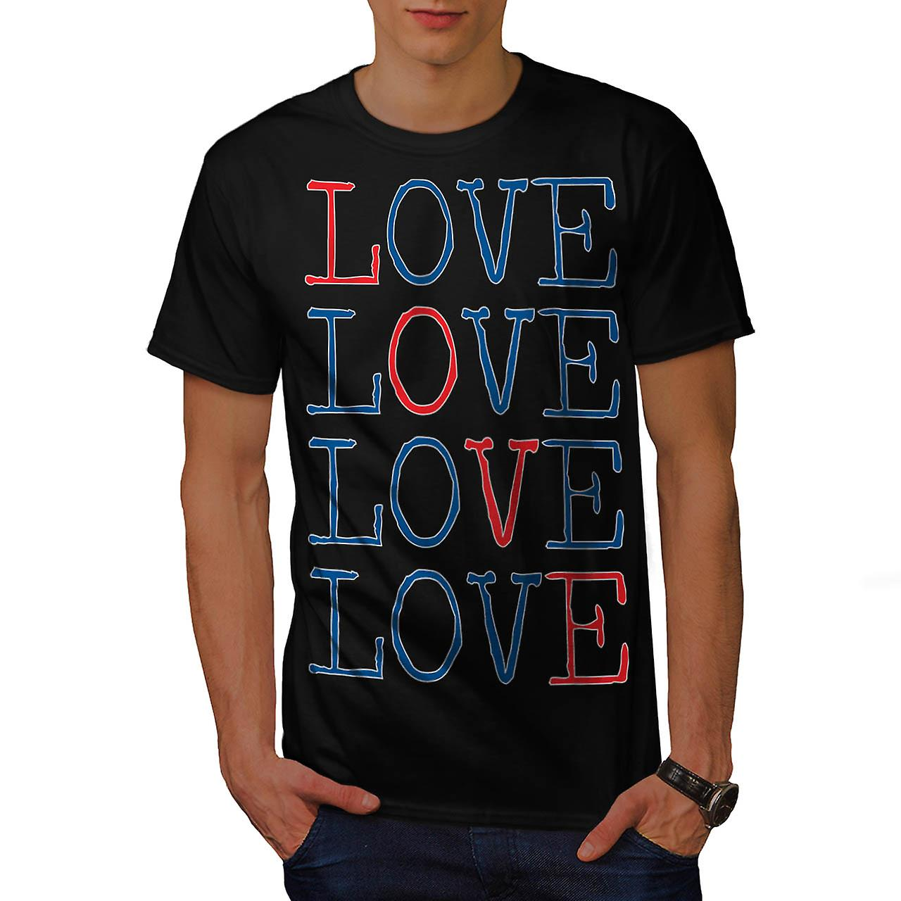 All You Need Is Love Romantic Fun Men Black T-shirt | Wellcoda