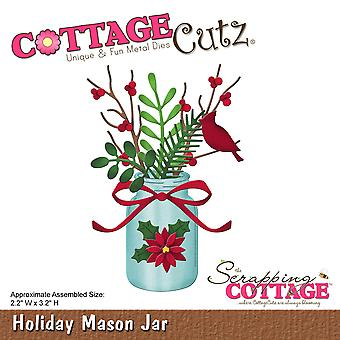 CottageCutz Die-Holiday Mason Jar, 2.2
