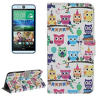 Mobile case bag for mobile phone HTC desire eye motif colorful OWL party