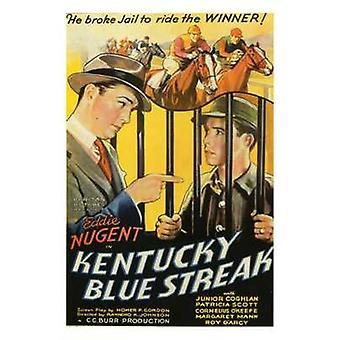 Kentucky Blue Streak film plakat (11 x 17)