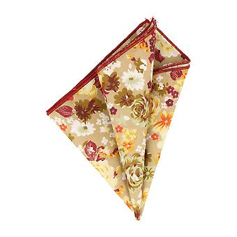 Mr. icone handkerchief Hanky Cavalier cloth beige floral