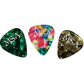 Pick set Medium MSA Musikinstrumente AP 12 AS 12 pc(s)