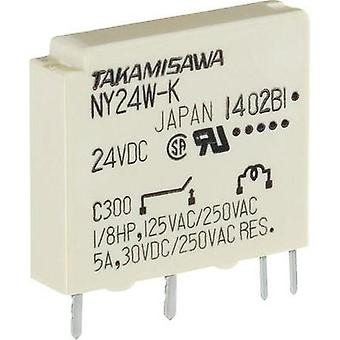 PCB relays 24 Vdc 5 A 1 maker Takamisawa NY-24W-K-IE 1 pc(s)