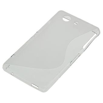 OTB TPU case compatible with Sony Xperia Z3 compact S-curve transparent