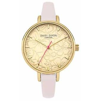 Daisy Dixon Womans Phoebe Floral Printed Dial Gold DD042G Watch