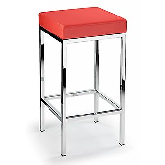 Ernest Kitchen Bar Stool Padded Seat Chrome Frame Fixed Height
