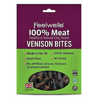 Feelwells 100% kød behandler vildt bider 100g (pakke med 10)