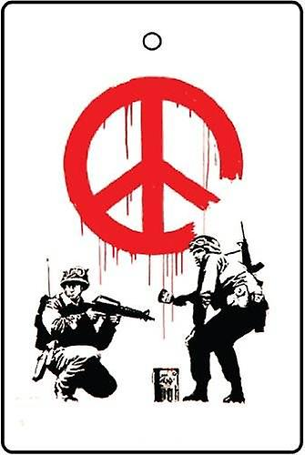 Banksy CND Soldiers Car Air Freshener