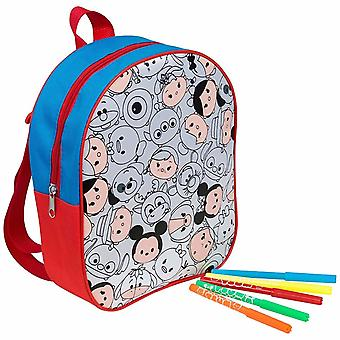 Official Licensed | TSUM TSUM | Colour Your Own Backpack School Bag