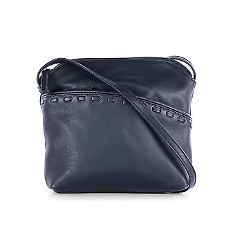 Tilly Roma klein Leder Cross Body Bag Navy