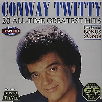 Conway Twitty - 20 alle tid Greatest Hits CD] USA importerer