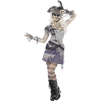 Madame Voyage costume with dress and eye patch size M