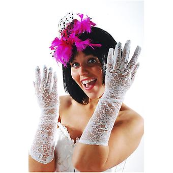 Gloves Women Long white lace gloves for ladies