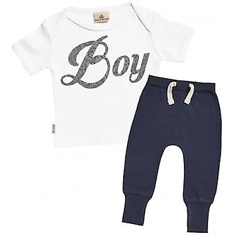 Spoilt Rotten Boy Design T-Shirt & Navy Joggers Outfit Set