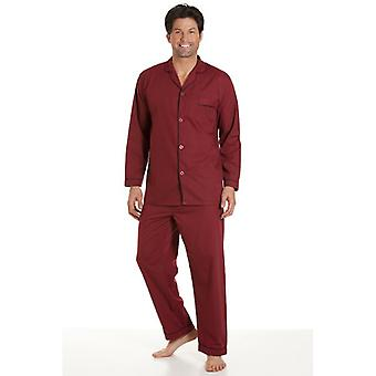 Haigman Classic Style Mens Burgundy Pyjamas