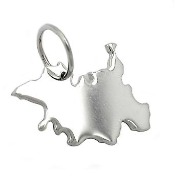 Trailer map Schleswig-Holstein SH beads in solid 925 Silver