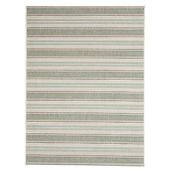 In - and outdoor carpet balcony / living room Riga green blue beige 135 x 190 cm