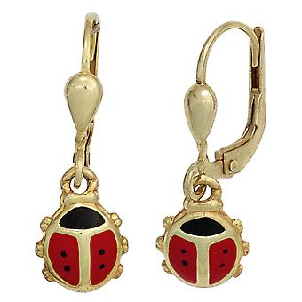 Kids Ladybug 333 earrings gold yellow gold children earrings, children's jewellery