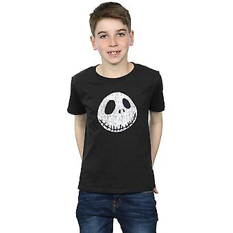 Disney Boys Nightmare Before Christmas Jack Cracked Face T-Shirt