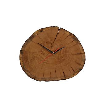 Wood wall clock tree disc made in Austria Watch sweet chestnut chestnut wood