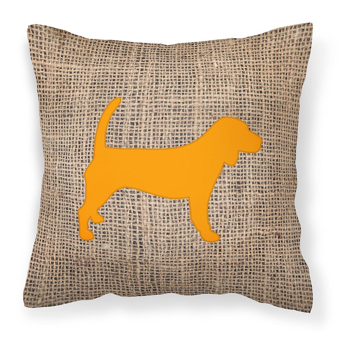 Toile Et Tissu Orange Décoratif Beagle De Jute Bb1087 Oreiller 1lFTKcJ