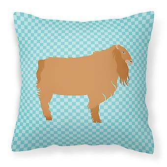 Azul americano cabra Lamancha ver tejido decorativo de la almohadilla