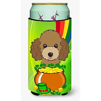 Chocolade bruin poedel St. Patrick's Day Tall Boy drank isolator Hugger