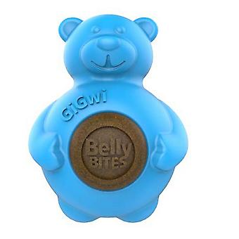 Pet Brands GiGwi Belly Bites Bear With Replaceable Treats (Assorted Colours)