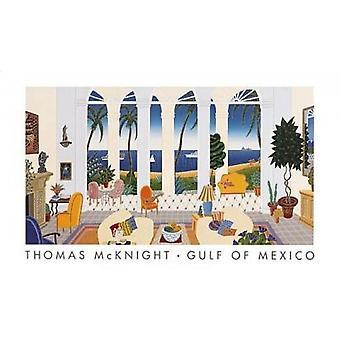 Mexicogolfen Poster trykk av Thomas McKnight (18 x 11)