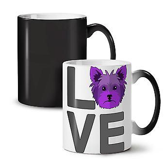Yorkshire Doggy Love neue schwarze Farbe wechselnden Tee Kaffee Keramik Becher 11 oz | Wellcoda