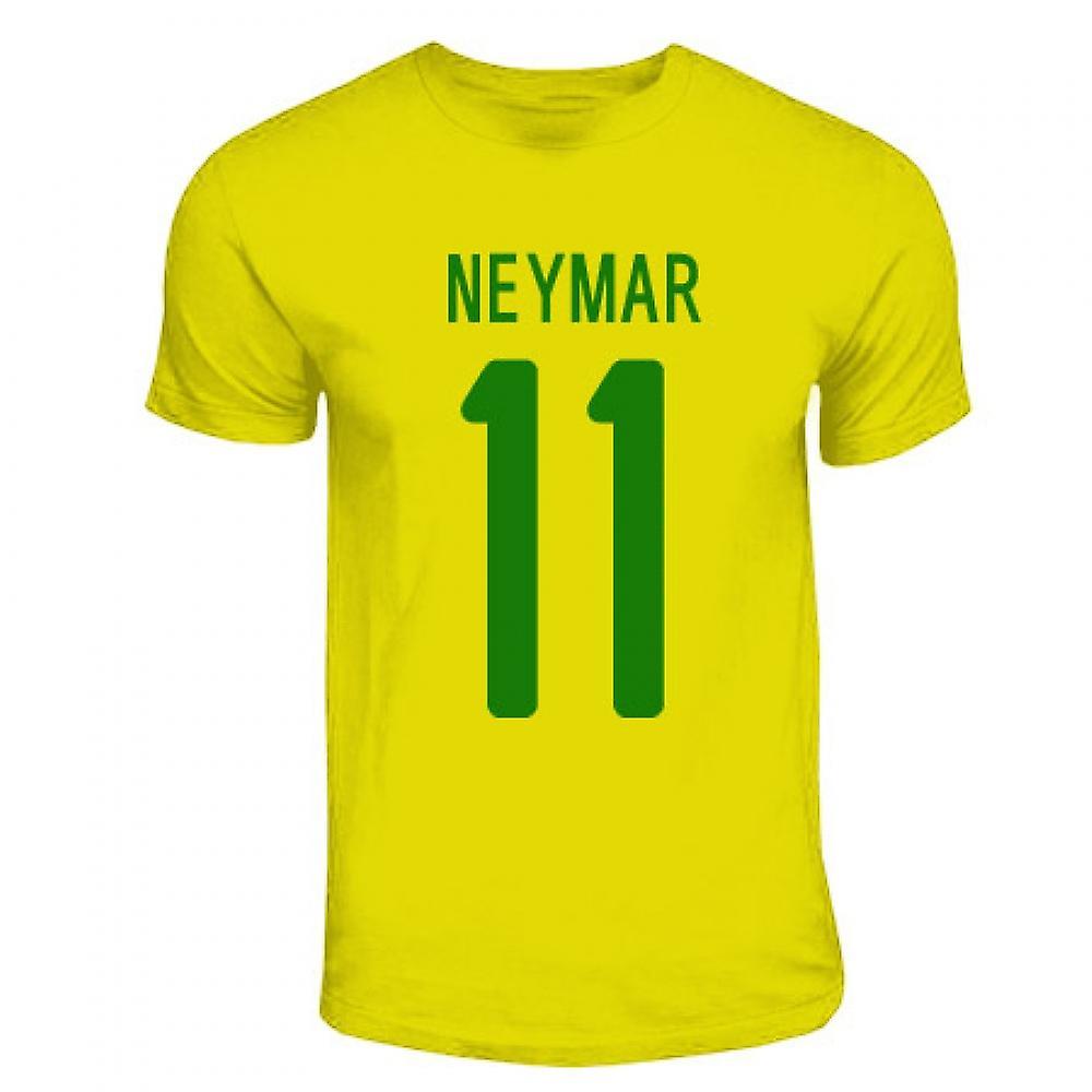 Neymar Brasil helten T-shirt (gul)