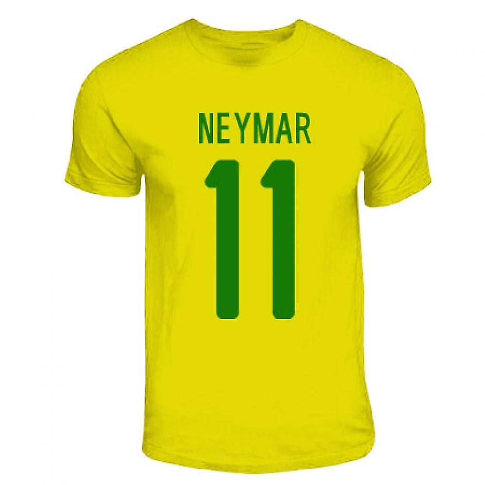 Neymar Brasilien hjälte T-shirt (gul)