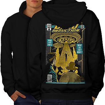Flying Object Magazine Men BlackHoodie Back | Wellcoda
