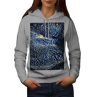 Sea Underwater Art Nature Women GreyHoodie | Wellcoda