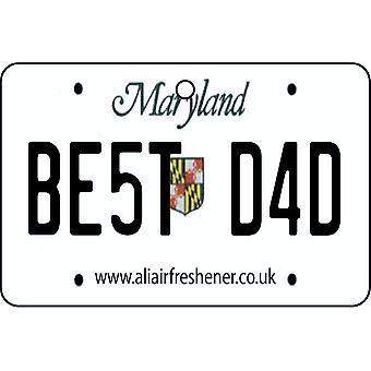 Maryland - Best Dad License Plate Car Air Freshener