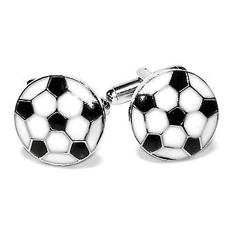 シルバー トーン メンズ カフ ・ リンクス サッカー ボール形のカフス