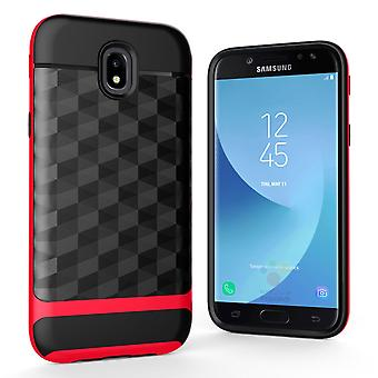 Back cover case cell phone case for Samsung Galaxy J5 2017 cover - cover 3D Prism design Red
