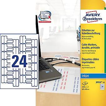 Avery-Zweckform J8950-10 Labels (A4) 60 x 40 mm Polyester film