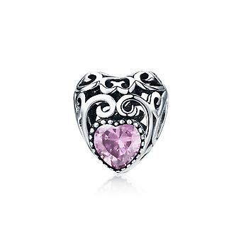 Sterling silver charm Birthstone for October SCC573-10