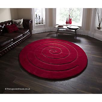 Spiraal rode tapijt